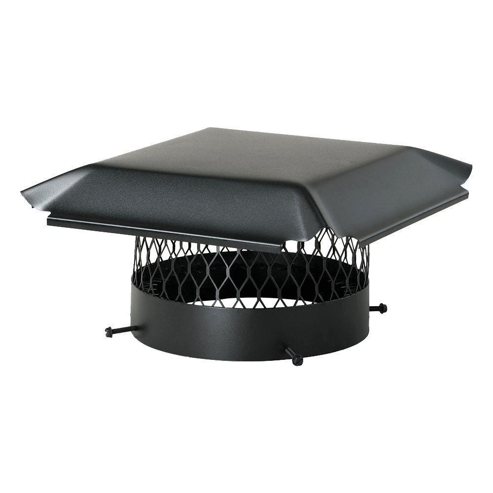16 in. Round California Oregon Slip-In Single Flue Chimney Cap in Black Galvanized Steel