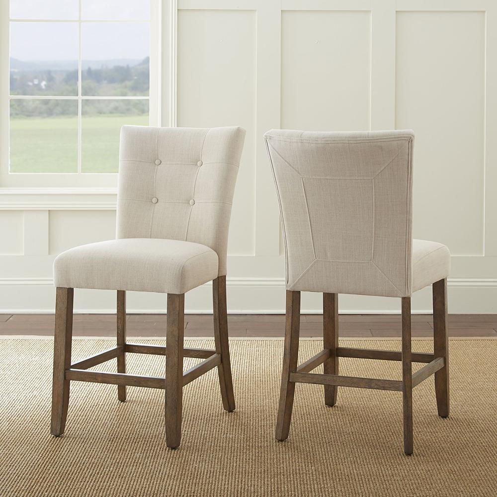 Steve Silver Company Debby Counter Chair Beige (Set Of 2