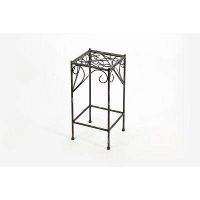 Medium Celtic Clover Square Cast-Iron Plant Stand