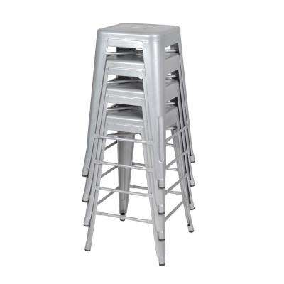 Rivet Grey Stack Stool (Set of 4)