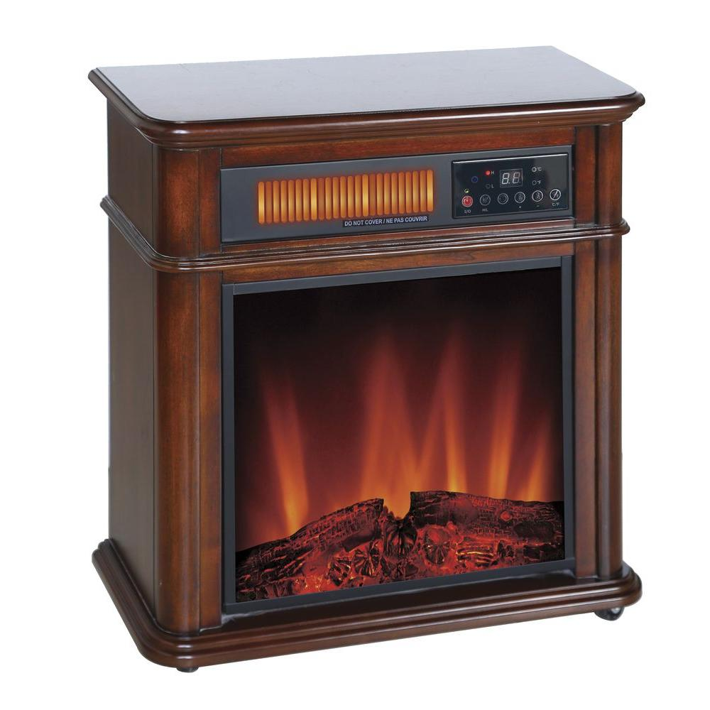 Electric Fireplace Heaters Home Depot: Comfort Glow 1,400-Watt 5,120 BTU Moveable Quartz Electric