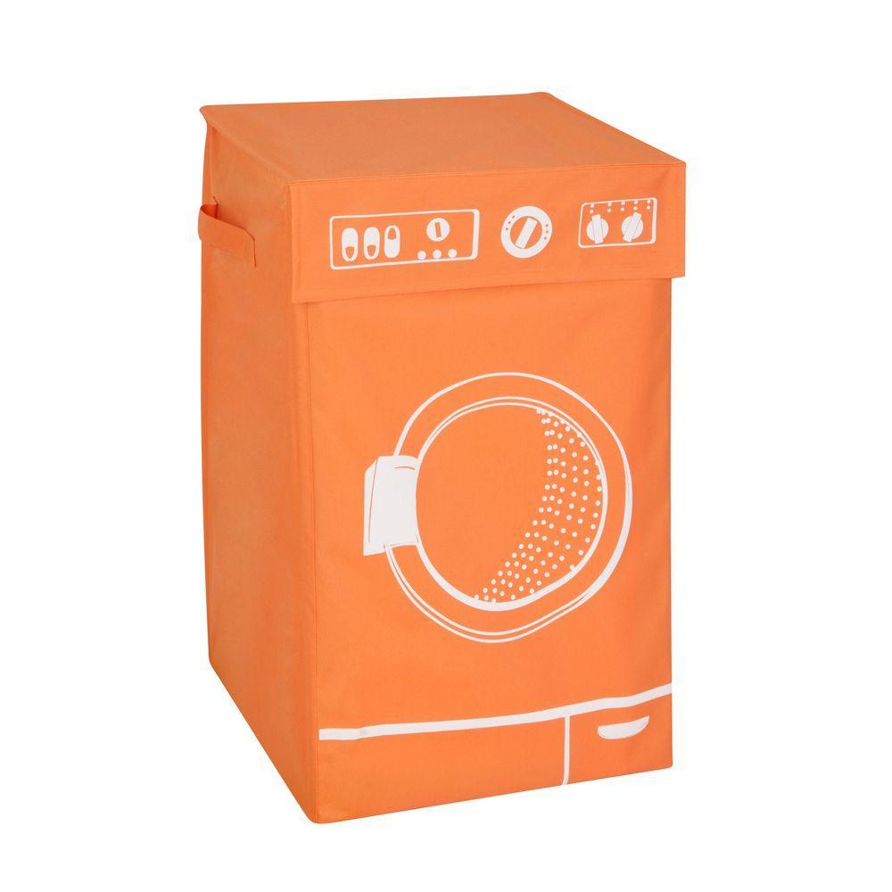 Honey-Can-Do Washing Machine Graphic Hamper in Orange