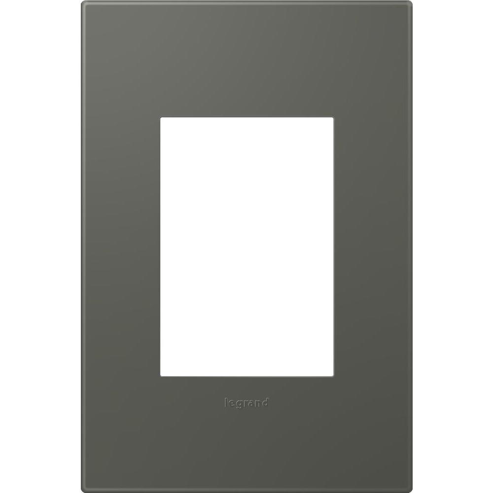 1-Gang 3 Module Wall Plate - Soft Touch Moss Grey