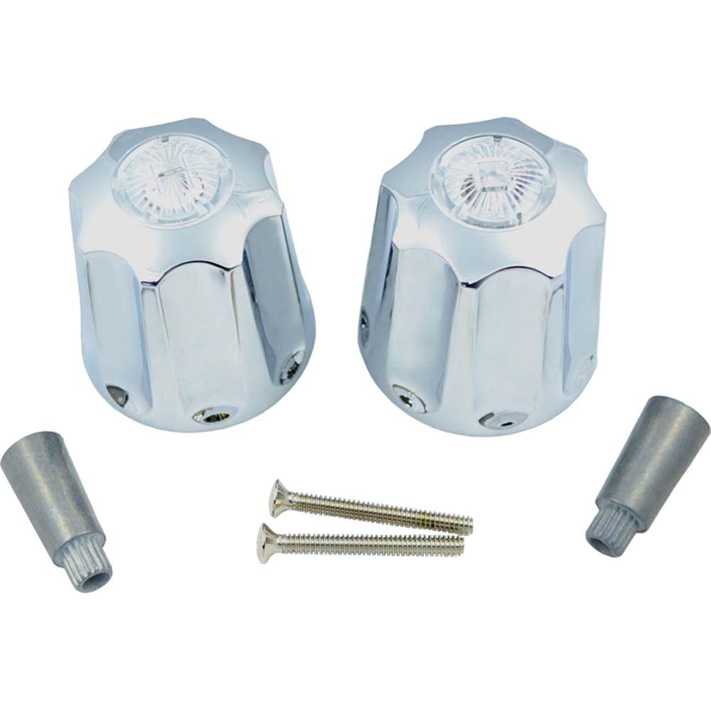 PartsmasterPro Tub and Shower Handle Pair with Multi-Fit Adapters ...