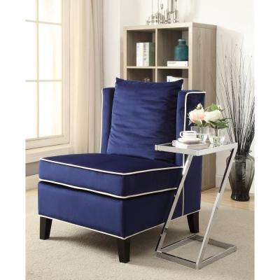 Ozella Accent Chair in Dark Blue