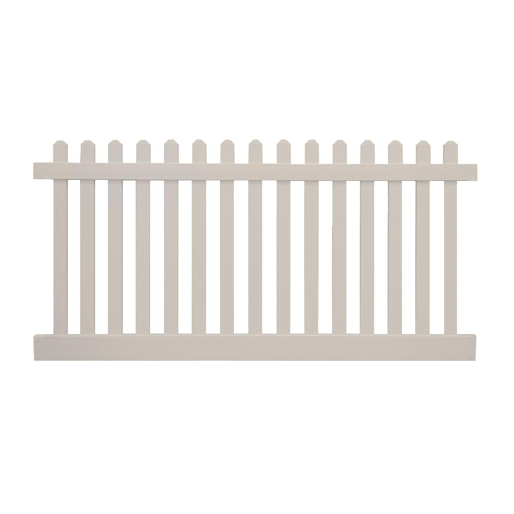 Weatherables Plymouth 3 Ft H X 6 Ft W Tan Vinyl Picket