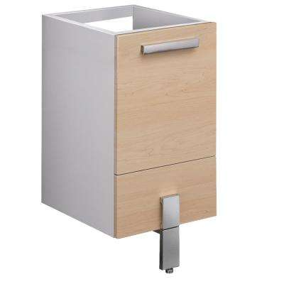 Adour 14.25 in. Modern Bathroom Vanity Cabinet Only in Light Walnut