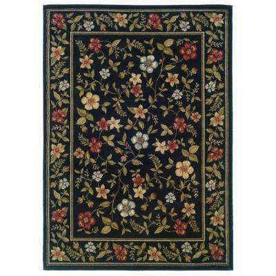 Evanston Gabriel Black 3 ft. x 5 ft. Area Rug