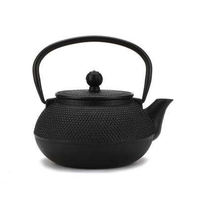 1.25-Cup Black Single Serve Cast Iron Tetsubin Tea Pot with Infuser