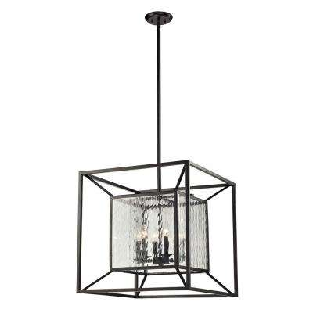 Cubix 6-Light Oiled Bronze Ceiling Mount Pendant  sc 1 st  The Home Depot & Titan Lighting - Bronze - Cage - Pendant Lights - Lighting - The ... azcodes.com