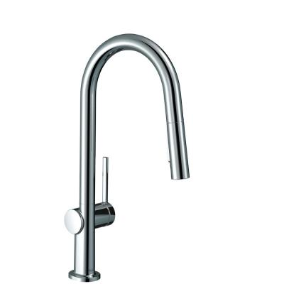 Hansgrohe Talis S Single Handle Pull Out Sprayer Kitchen Faucet In Chrome 06462000 The Home Depot