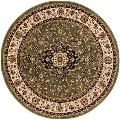 Barclay Medallion Kashan Green 7 ft. 10 in. x 7 ft. 10 in. Round Area Rug