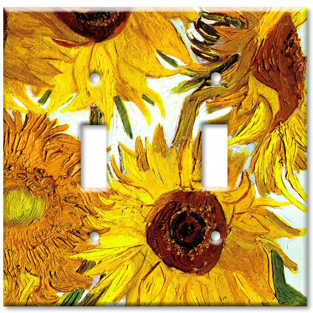 Art Plates Van Gogh Sunflowers 2 Toggle Wall Plate