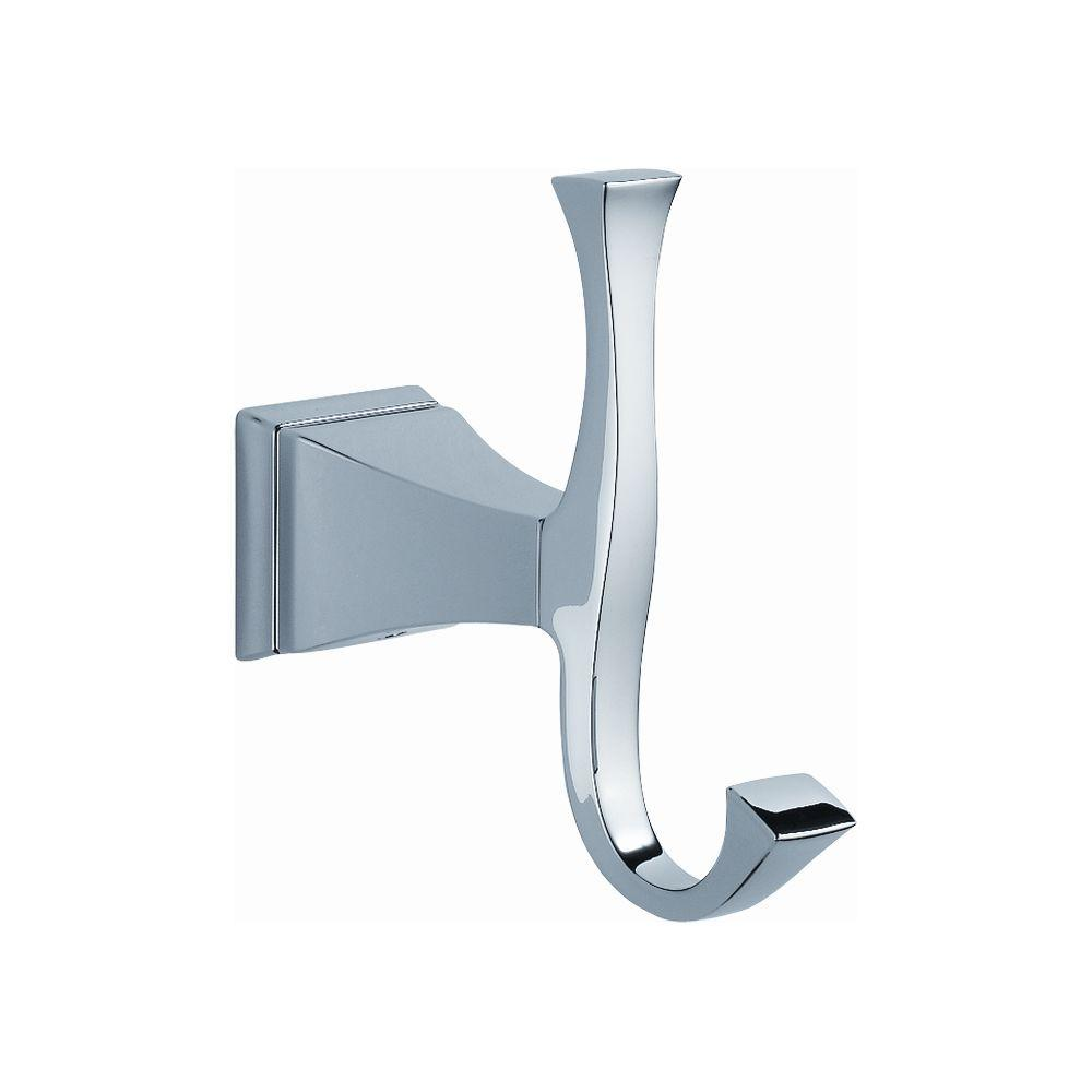Delta Dryden Double Towel Hook In Chrome 128885 The Home