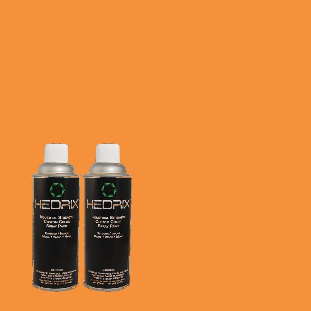 Hedrix 11 oz. Match of 260B-7 Bird of Paradise Flat Custom Spray Paint (2-Pack)