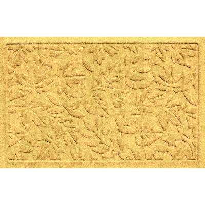 Aqua Shield Fall Day Yellow 17.5 in. x 26.5 in. Door Mat