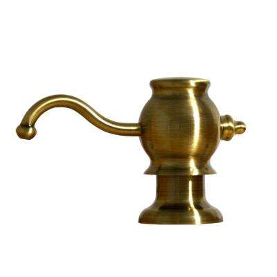 3-3/4 in. Soap/Lotion Dispenser in Antique Brass
