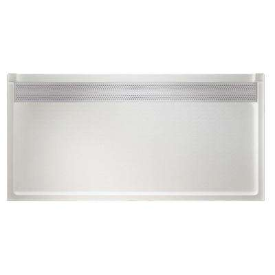 Barrier Free 34 in. x 64 in. Trough Drain Single Threshold Shower Floor in White