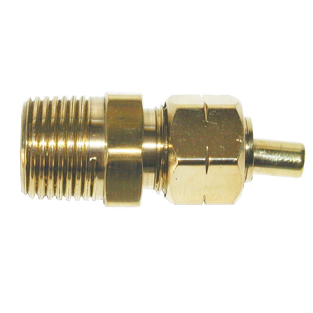"""Lot of 5  Brass Male Hose Barb Tube Connector Fitting  1//8/"""" MPT X 3//8/"""" OD Tube"""
