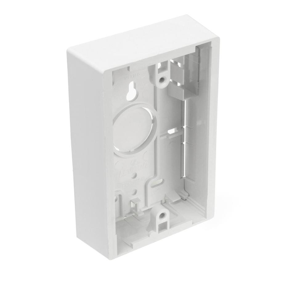 1-Gang 1.45 in. Box Depth Surface Mount Back Box, White