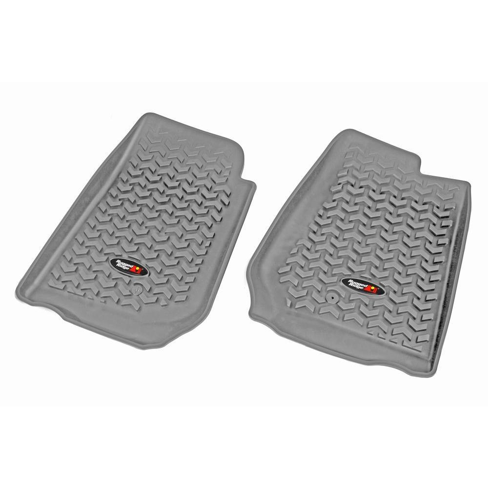 Floor Liner Front Pair Gray 2007-2013 RHD Jeep Wrangler JK