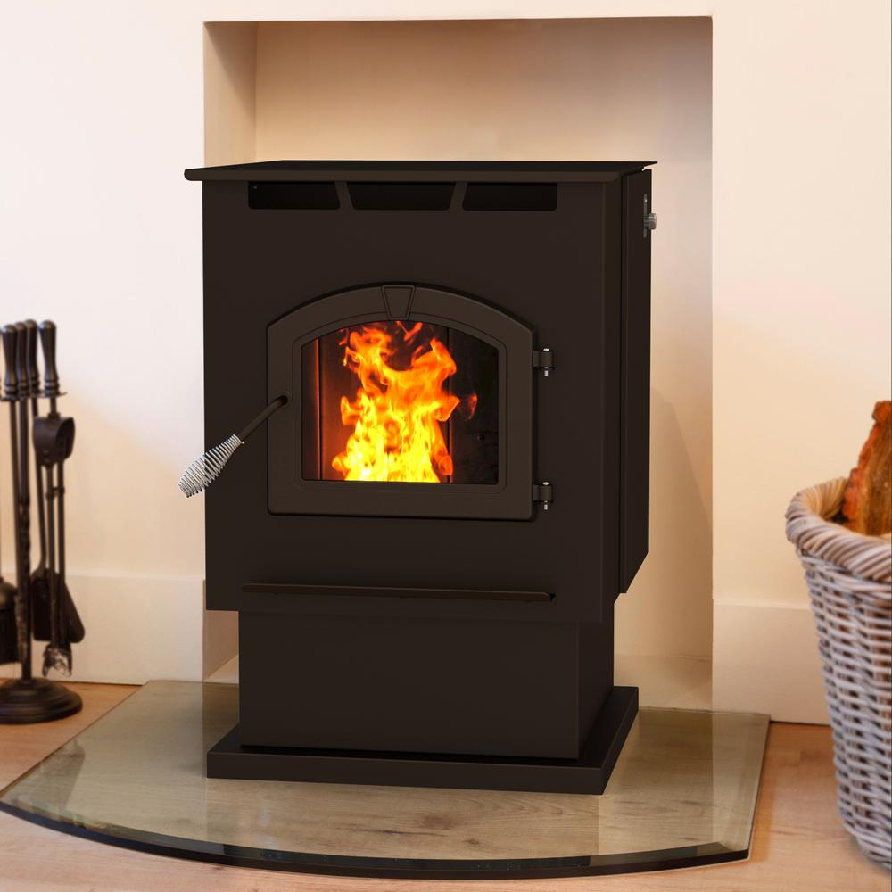 Pleasant Hearth: Pleasant Hearth 2,200 Sq. Ft. Pellet Stove With 80 Lbs