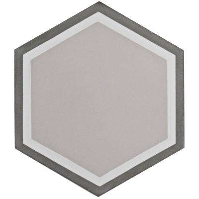 Cemento Hex Holland Channel Encaustic 7-7/8 in. x 9 in. Cement Handmade Floor and Wall Tile