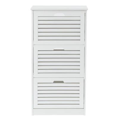 42.12 in. H White Wood 12-Pair Shoe Storage Cabinet