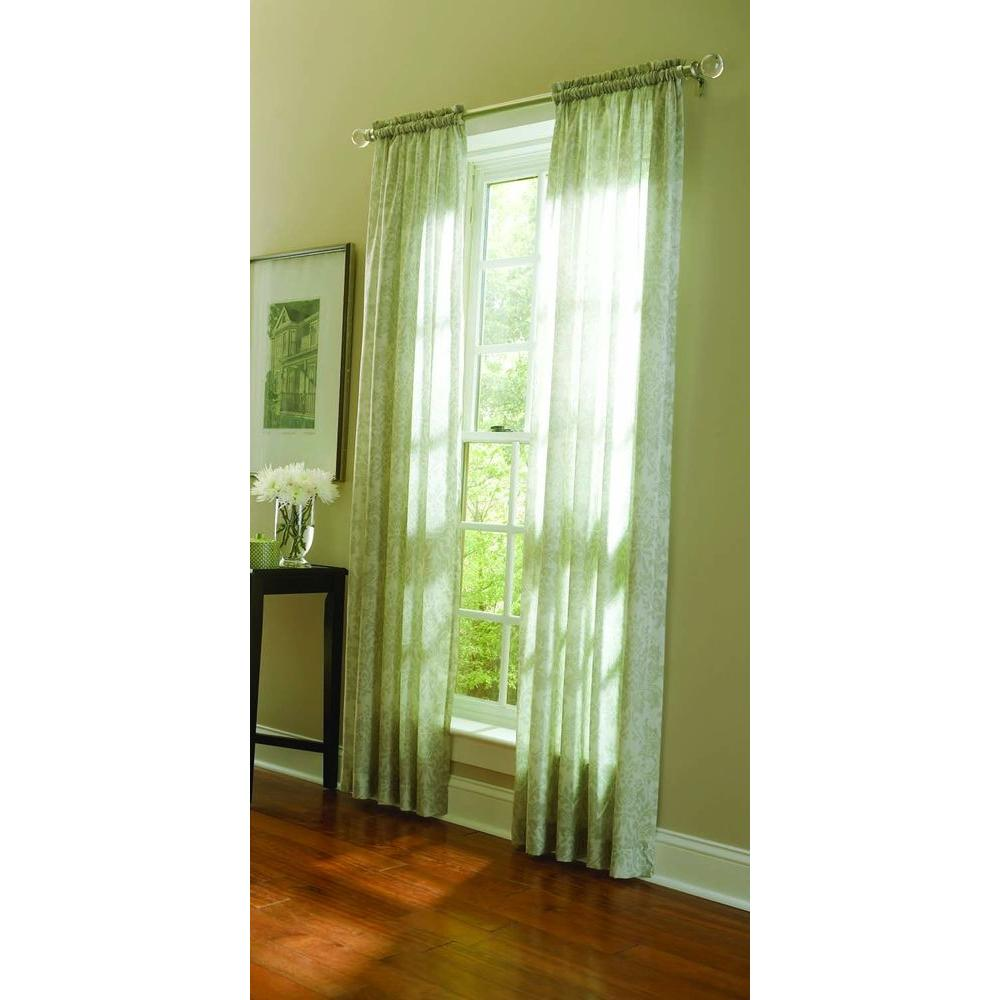 Martha Stewart Living Sheer Tadpole Sheer Damask Curtain, 84 in. Length-DISCONTINUED