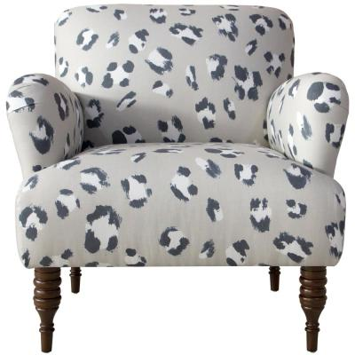 Beige - Animal Print - Fabric - Accent Chairs - Chairs - The ...