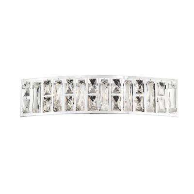 Kristella 24 in. 5-Light Chrome Vanity Light with Clear Crystal Shade