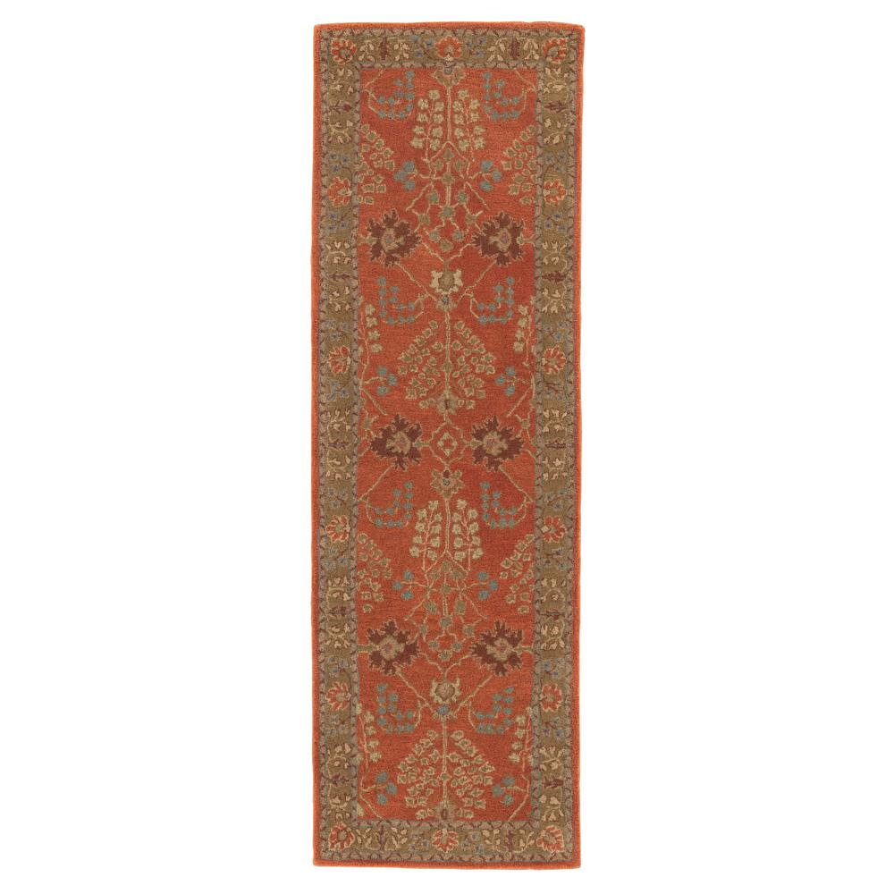 Burnt Ochre 3 ft. x 12 ft. Oriental Runner Rug