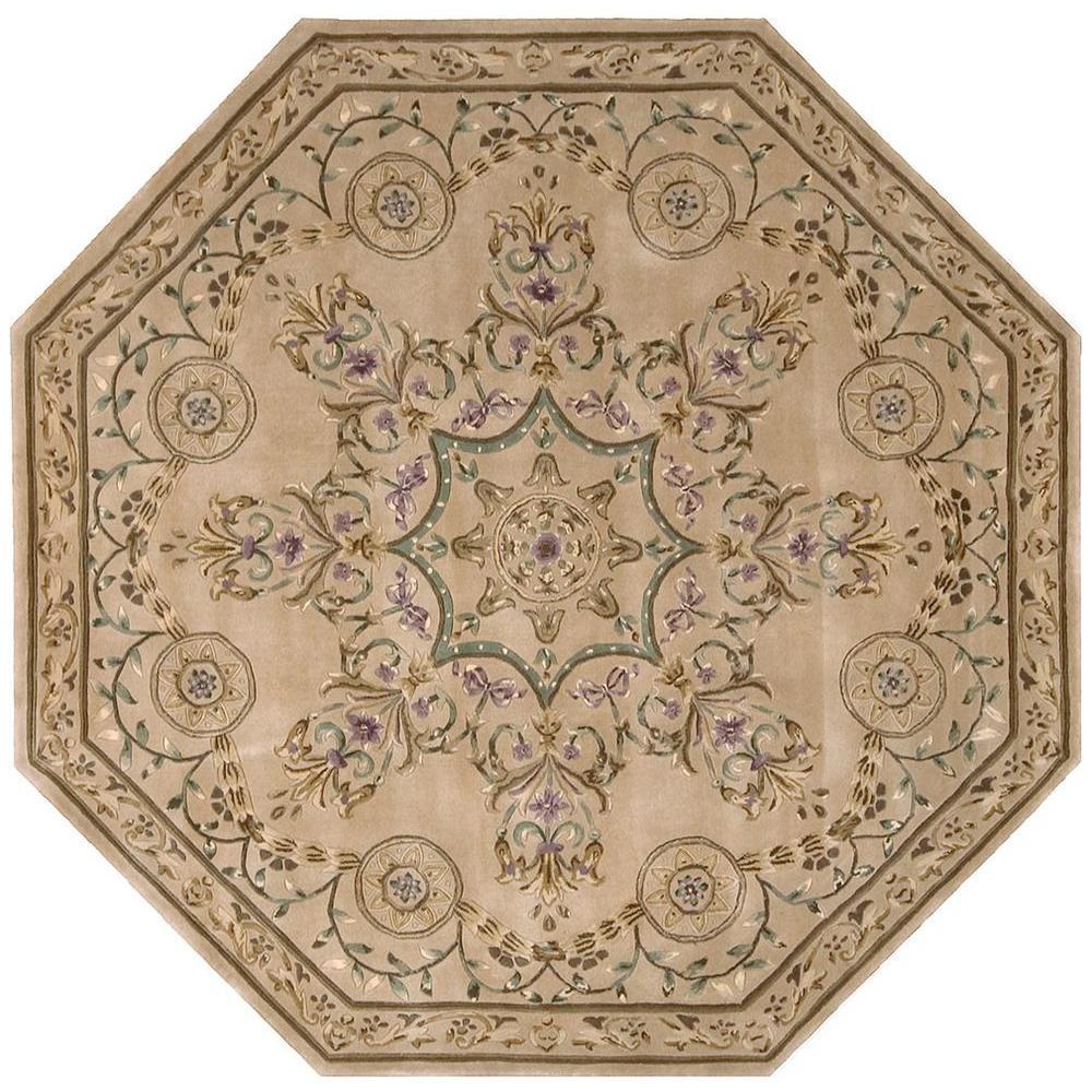 Nourison Versailles Palace Beige 6 Ft X Octagon