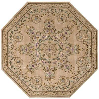 Versailles Palace Beige 6 ft. x 6 ft. Octagon Area Rug