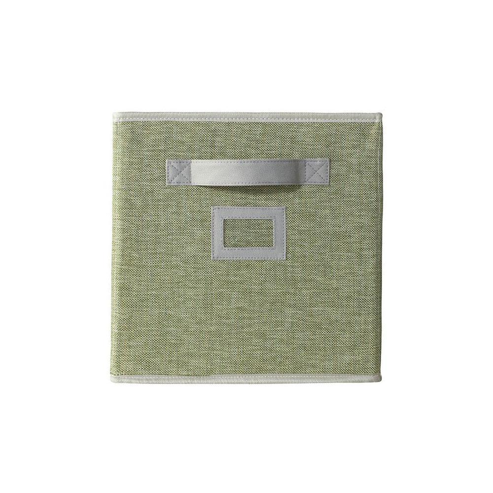 Glimmer 10.5 in. x 11 in. Spring Fabric 1-Cube Organizer