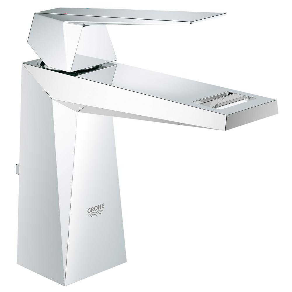 Grohe concetto single hole single handle high arc bathroom - Single hole two handle bathroom faucet ...