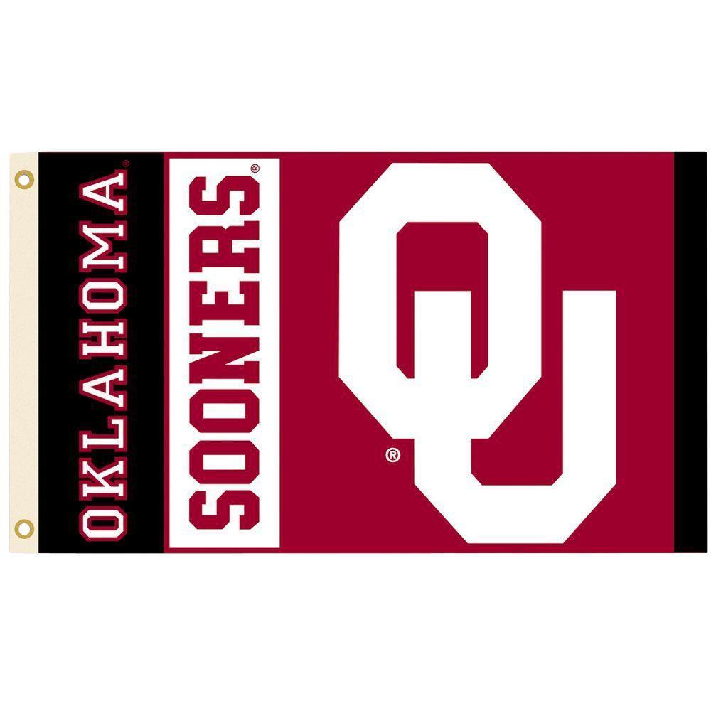 BSI Products NCAA 3 ft. x 5 ft. Oklahoma Flag