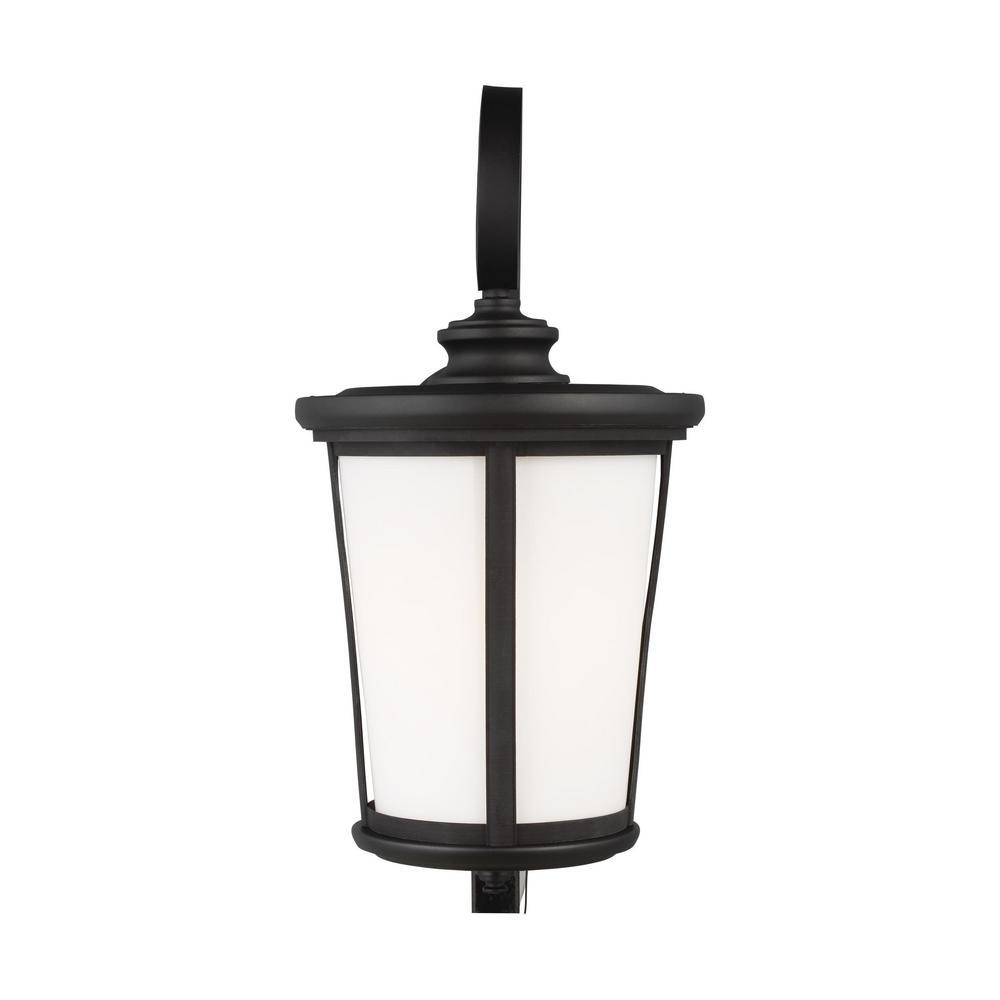 Sea Gull Lighting Eddington 1 Light Black Outdoor Wall Lantern 8819301 12 The Home Depot