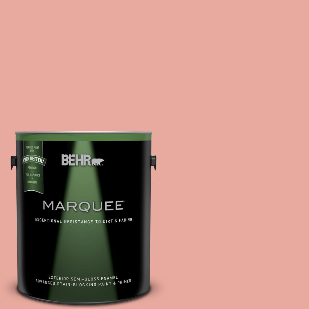 BEHR MARQUEE 1-gal. #M170-4 Passion Fruit Punch Semi-Gloss Enamel ...