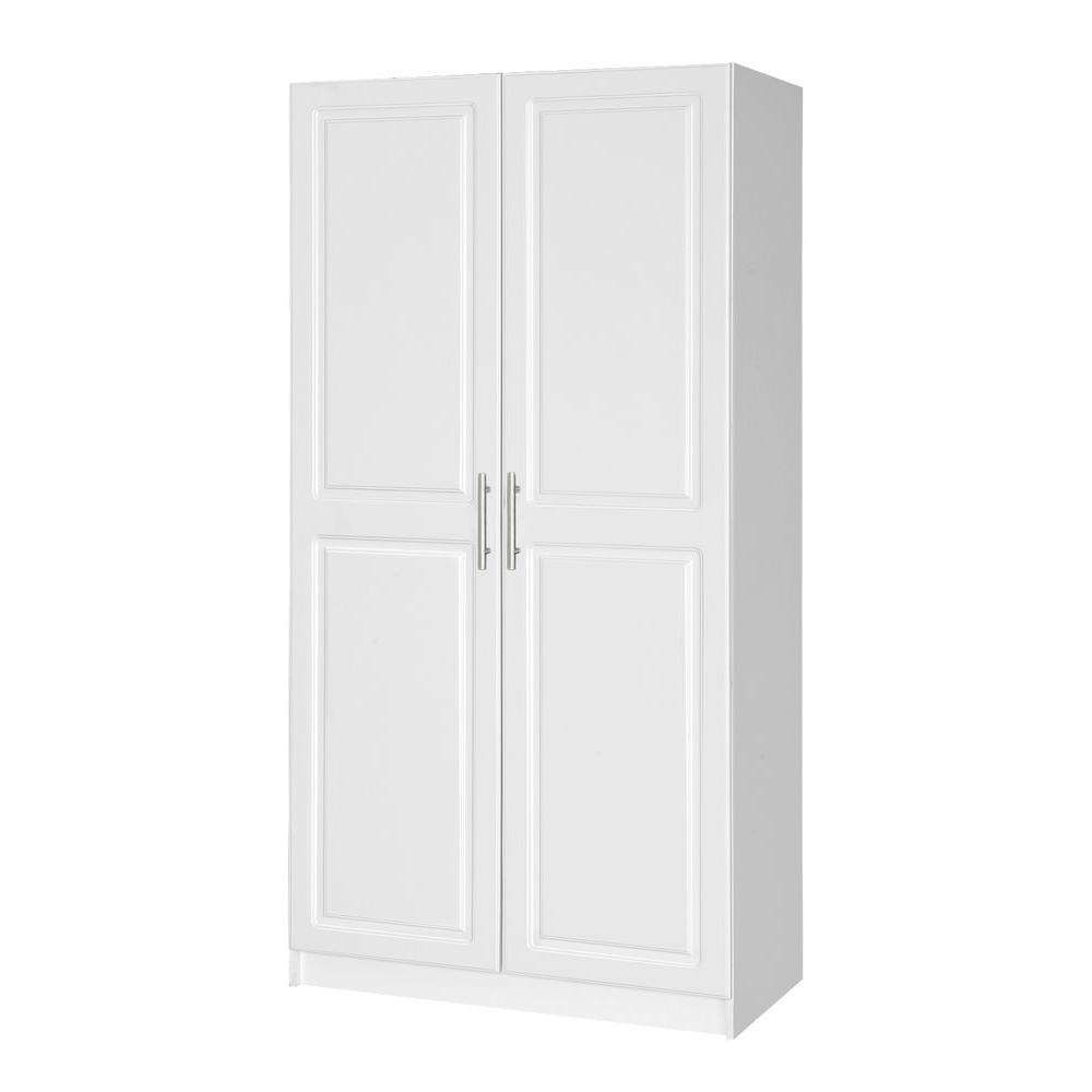 white wardrobe closet hampton bay select 65 in h mdf cabinet in white 30184