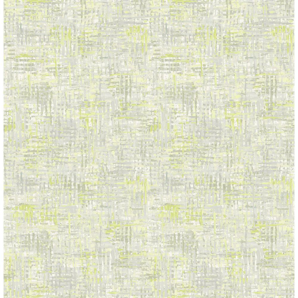 Avalon Lime Green Weave Wallpaper