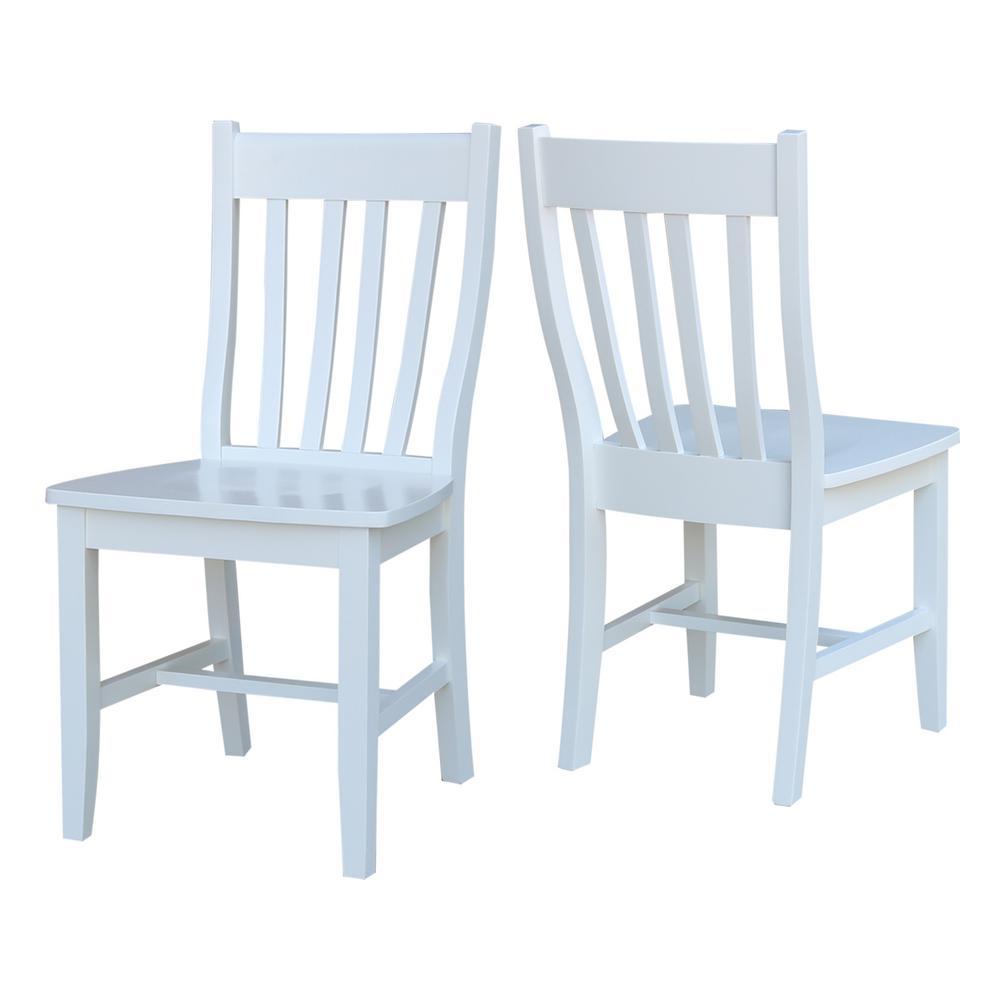 Super International Concepts Cafe Pure White Dining Chair Set Of Creativecarmelina Interior Chair Design Creativecarmelinacom