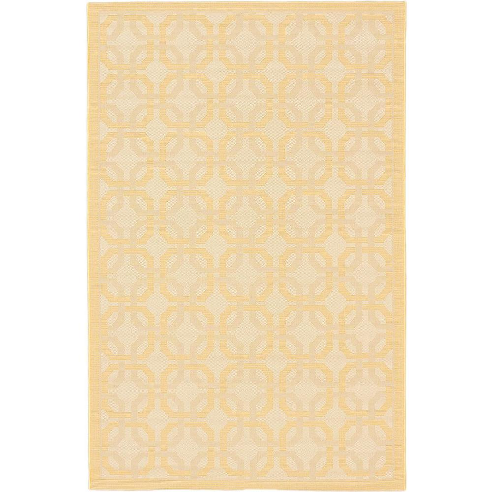 Ankara Ivory, Light Gold 3 ft. 3 in. x 4 ft. 9 in. Area Rug, Ivory/Light Gold