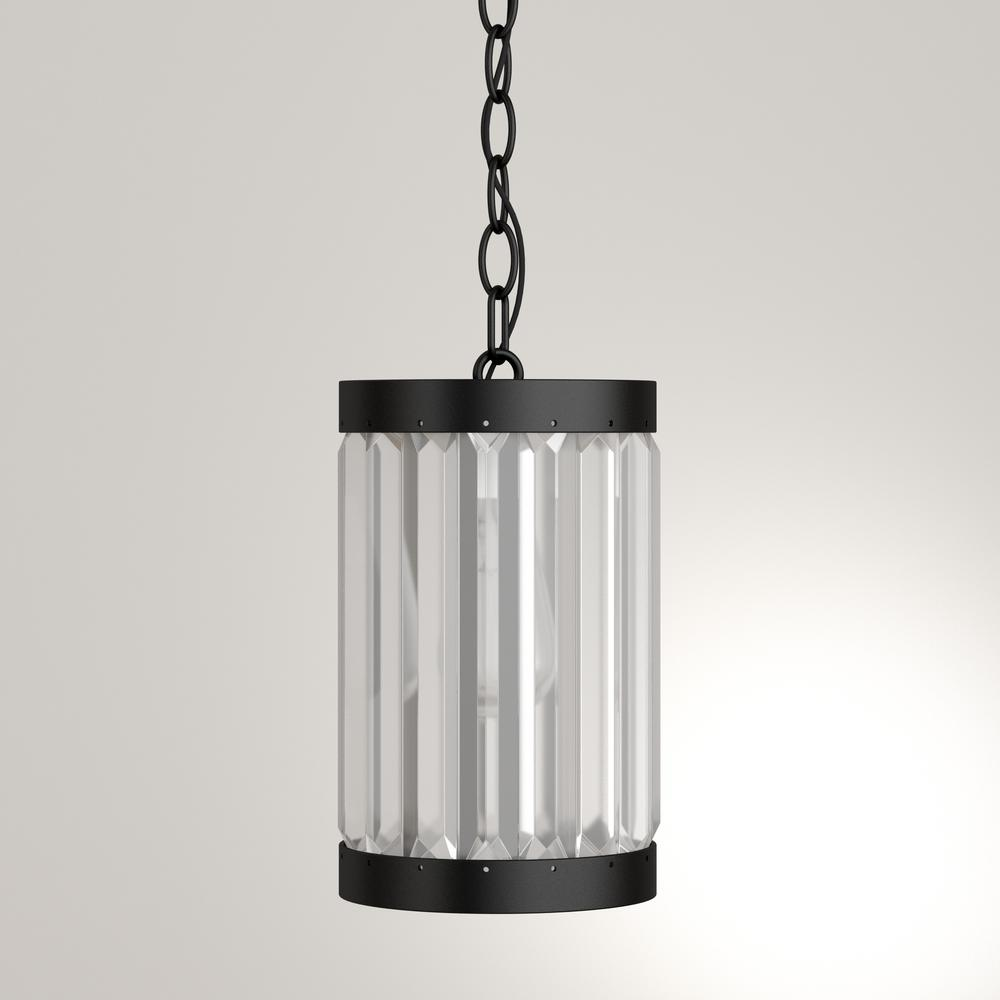Home Decorators Collection 1-Light Oil-Rubbed Bronze Indoor Mini Pendant with Glass Shade