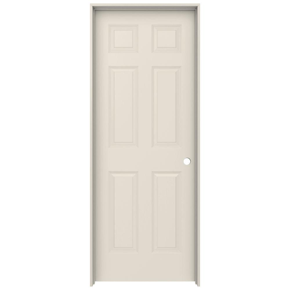 Jeld Wen 30 In X 80 In Colonist Primed Left Hand Smooth Solid Core