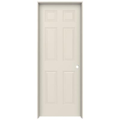 30 in. x 80 in. Colonist Primed Left-Hand Smooth Solid Core Molded Composite MDF Single Prehung Interior Door