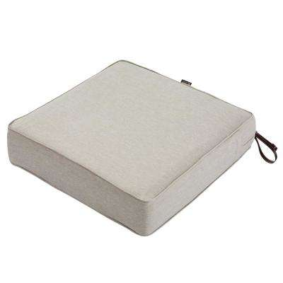 Montlake Heather Grey 25 in. W x 25 in. D x 5 in. T Outdoor Lounge Chair Cushion