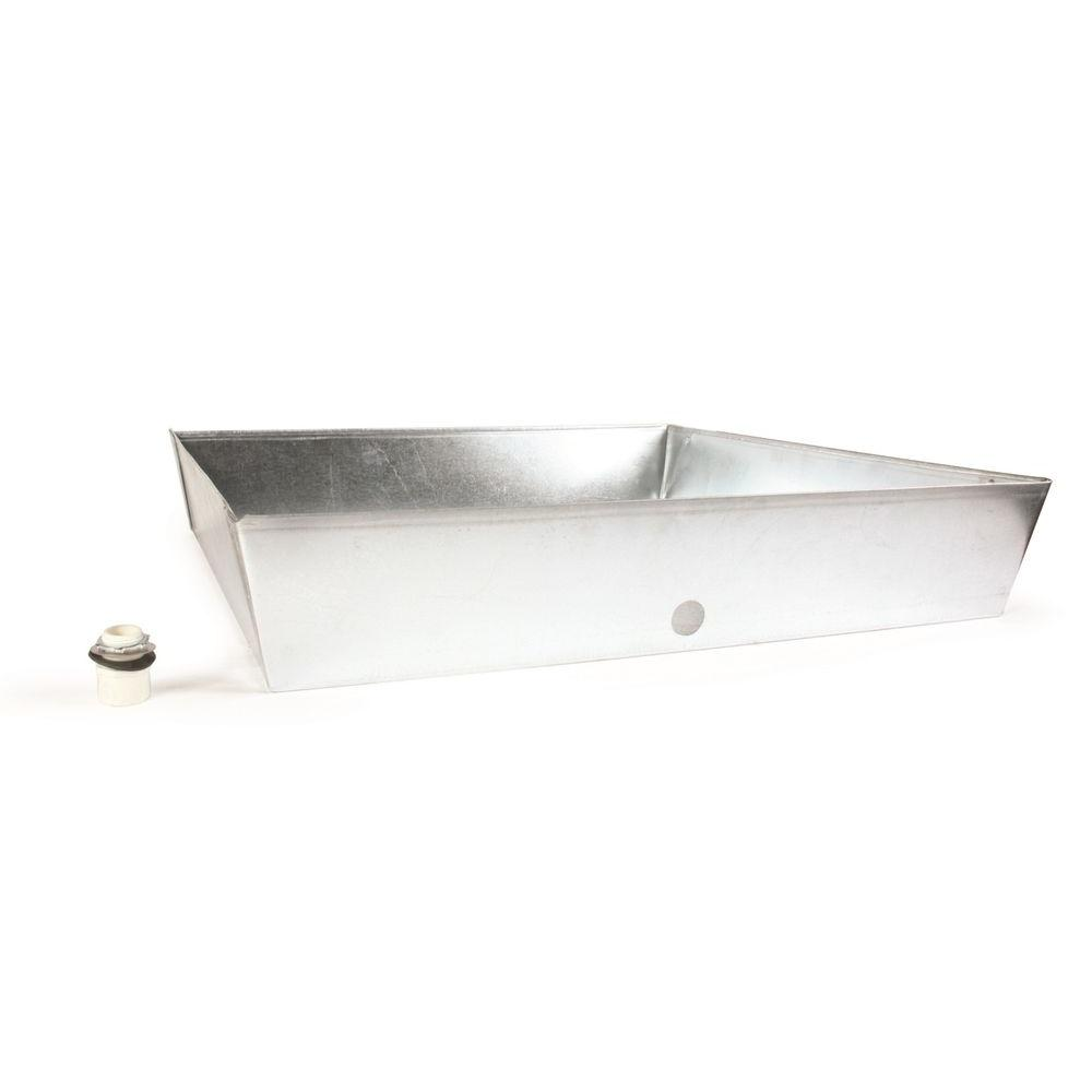 30 in. x 30 in. x 6 in. Square Galvanized Water