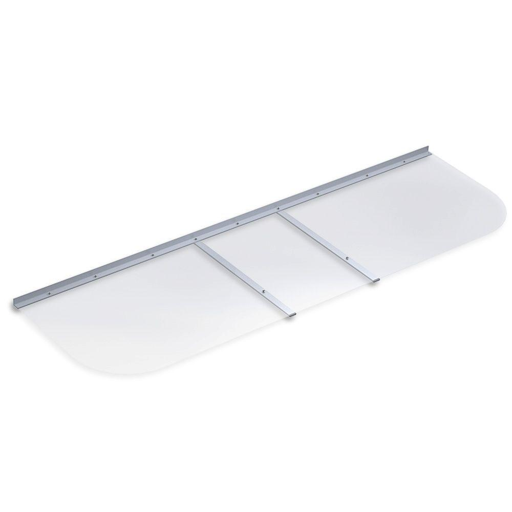 Ultra Protect 70 in. x 21 in. Elongated Clear Polycarbonate Window Well Cover