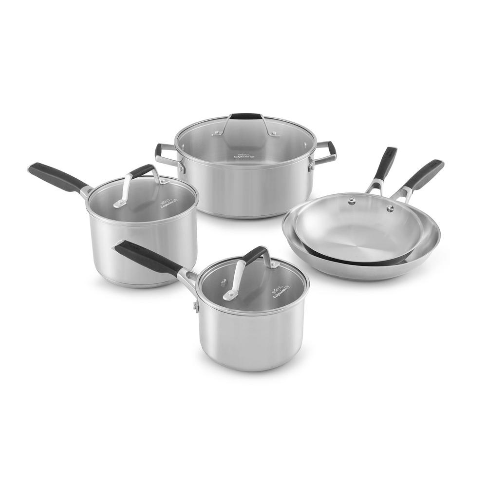 Calphalon Select 8-Piece Stainless Steel Cookware Set-1961939 - The ...